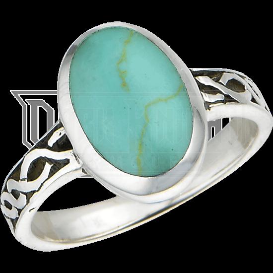 Turquoise Celtic Twist Ring