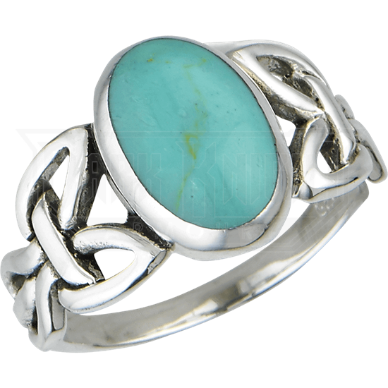 Turquoise Knotwork Ring