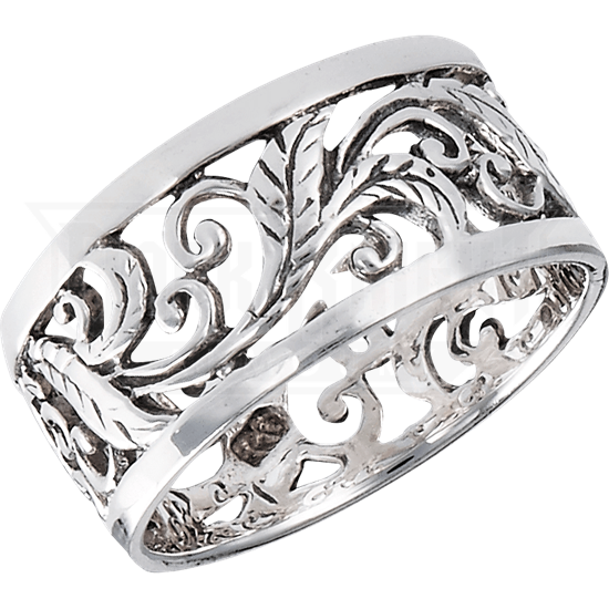 Sterling Silver Foliate Band