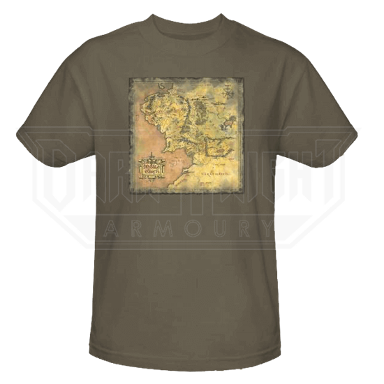 Middle Earth Map T-Shirt