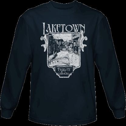 Blue Laketown Long Sleeved T-Shirt