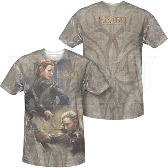 Front and Back Elves of Mirkwood T-Shirt