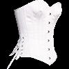White Satin Overbust Corset