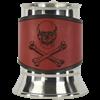 Skull & Crossbones Tankard with Leather Wrap