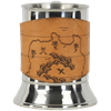 Pirate Map Tankard with Leather Wrap