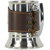 Celtic Tree of Life Tankard with Leather Wrap