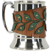 Woodland Vine Tankard with Leather Wrap