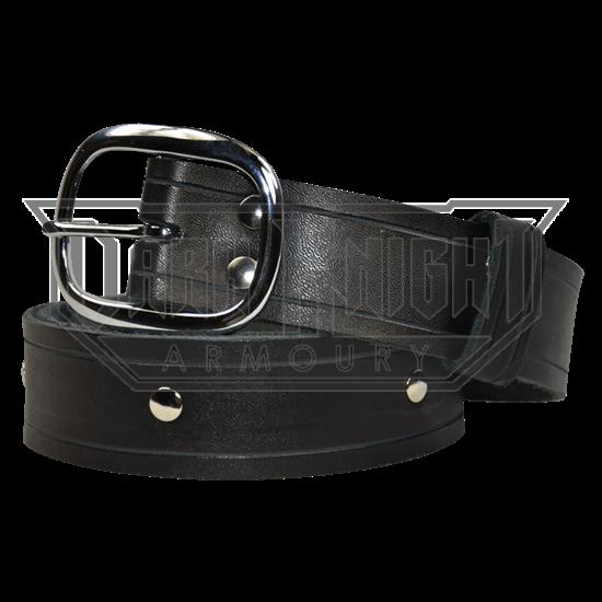 Simple Studded Buckle Belt