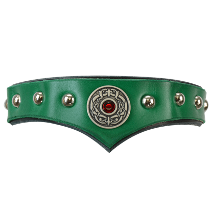Childrens Celtic Leather Headband