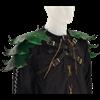 Elven Leaf Leather Pauldron Harness