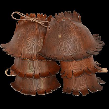Woodland Tree Bark Pauldrons