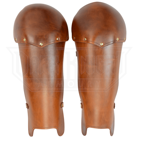 Molded Leather Greaves