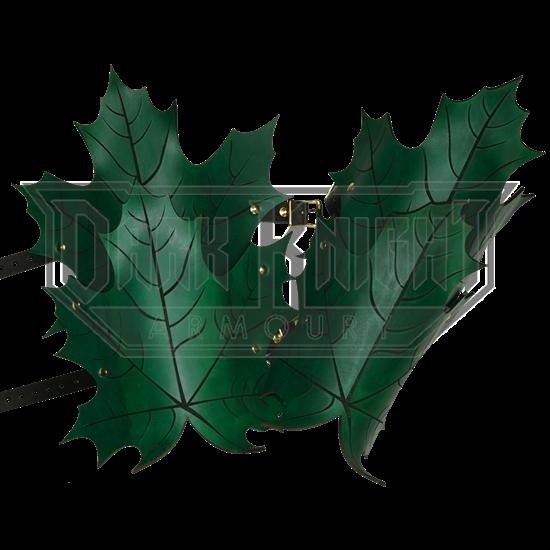 Elven Leaf Leather Greaves
