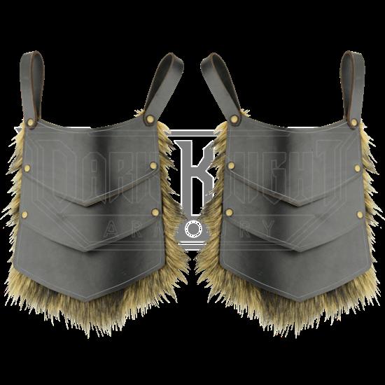 Savage Warrior Leather Tassets