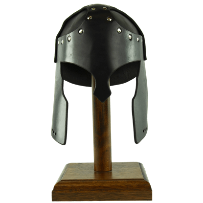Leather Greek Helmet