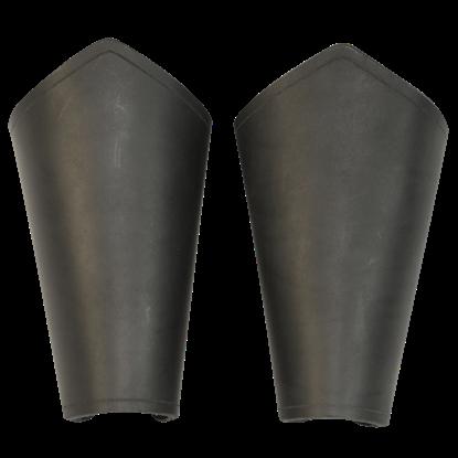 Plain Leather Arm Bracers