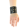 Crusader Cross Leather Wrist Cuffs
