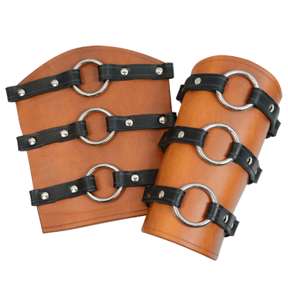 Berserker Leather Arm Bracers