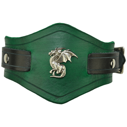Winged Dragon Leather Wrist Cuffs