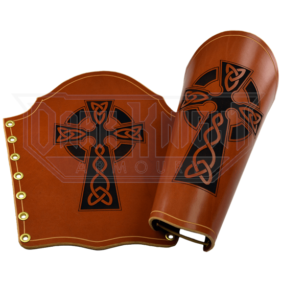 Engraved Celtic Cross Bracers