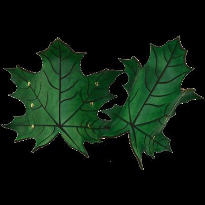 Elven Leaf Wrist Bracers