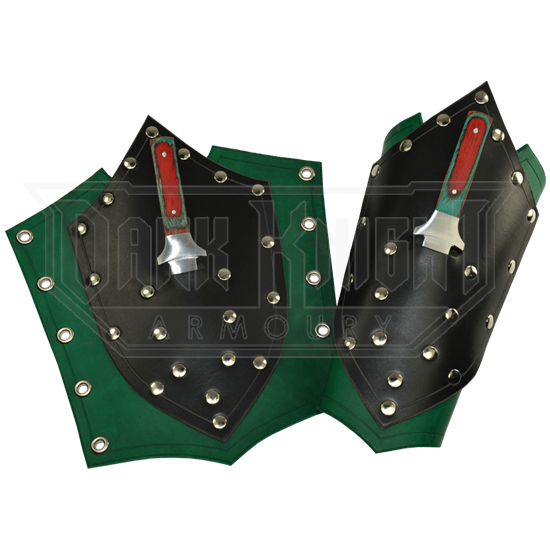Shield Arm Bracers with Daggers