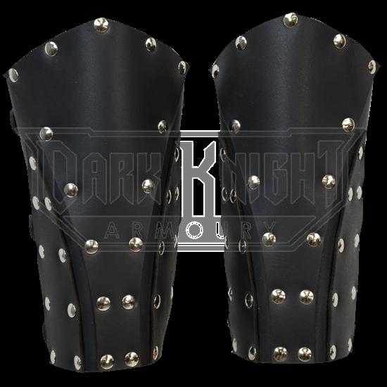Dark Rogue Leather Bracers