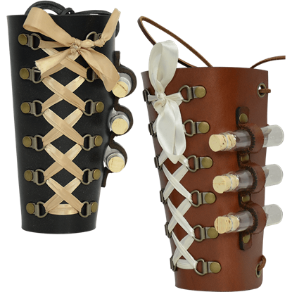 Ladies Steampunk Bracer with Vials