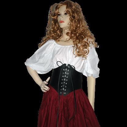 Ladys Leather Waist Cincher