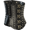 Clasped Leather Steampunk Corset