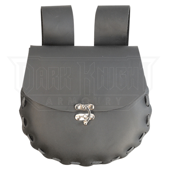 Round Medium Leather Pouch