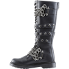 Brass Knuckle Chained and Buckled Boots
