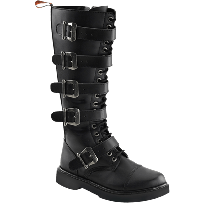 Mens Tall Banded Buckle Boots