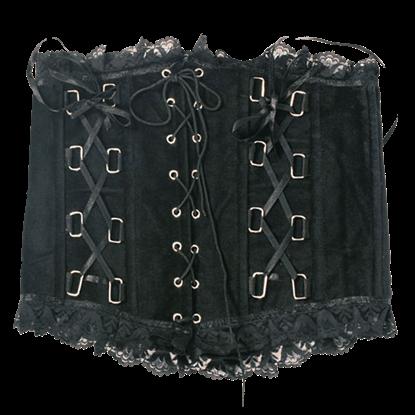 Gothic Black Lace Waist Cincher