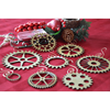 Steampunk Gear Christmas Ornament Set of 8