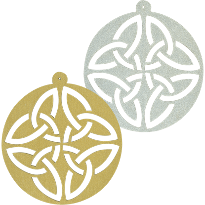 Circle Celtic Knot Ornament Set of 6