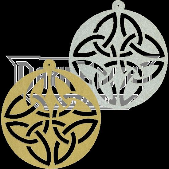 Circle Celtic Knot Ornament Set of 6