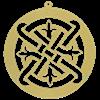 Celtic Fleur Filigree Ornament Set of 6