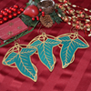 Elven Leaf Ornament Set