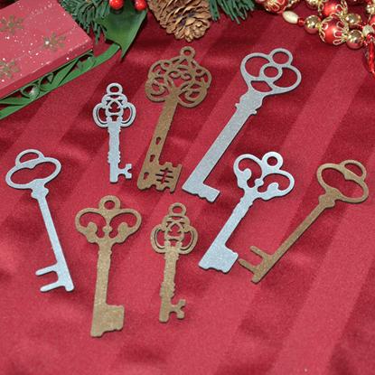 Victorian Key Ornament Set