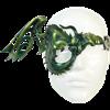 Winged Half-Dragon Leather Mask