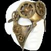 Geared Bronze Steampunk Leather Mask