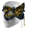 Butterfly Leather Half-Mask