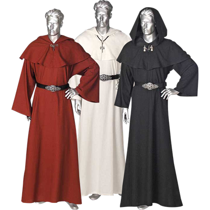 Mens Celtic Ritual Robe With Hood