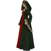 Fur Trimmed Medieval Dress with Hood