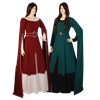 Draped Sleeve Medieval Dress