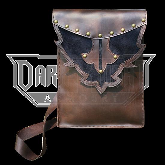 Tall Leather Shoulder Bag