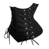 Black Double Front Lacing Under-Bust Corset