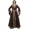 Womens Medieval Fur Trimmed Coat