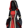 Hooded Renaissance Dress with Train